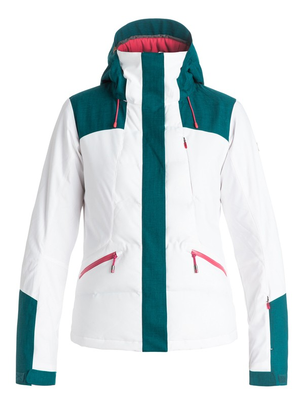 0 Flicker Snow Jacket White ERJTJ03042 Roxy