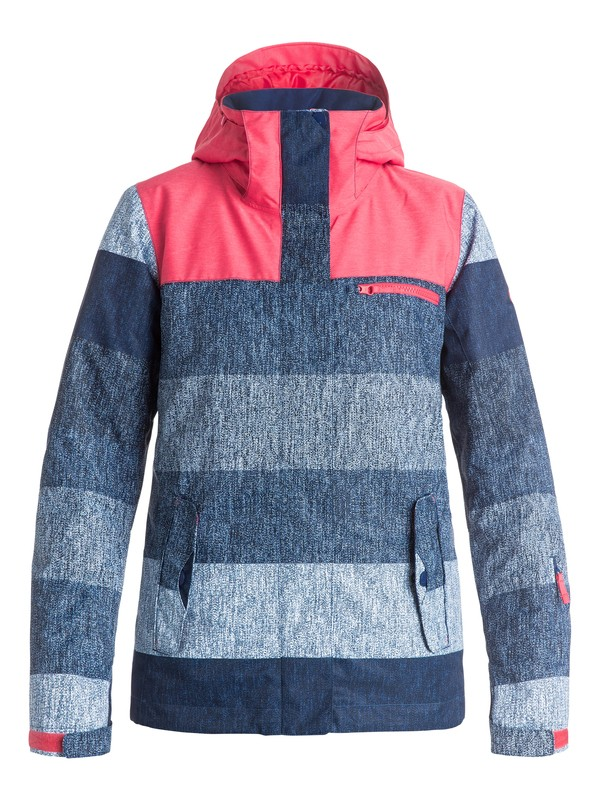 0 ROXY Jetty Block Snow Jacket Blue ERJTJ03054 Roxy