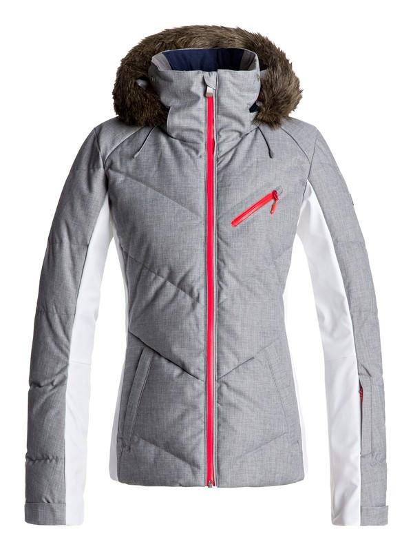 0 Snowstorm - Snow Jacket Grey ERJTJ03105 Roxy