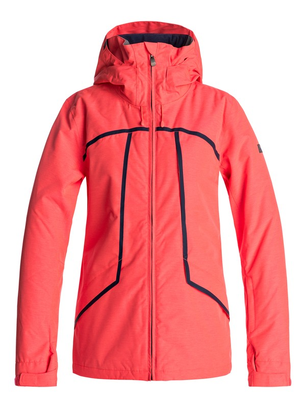 0 Wildlife - Snow Jacket Orange ERJTJ03107 Roxy