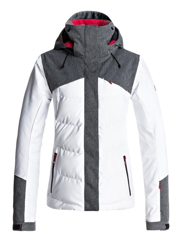 0 Flicker - Snow Jacket White ERJTJ03109 Roxy