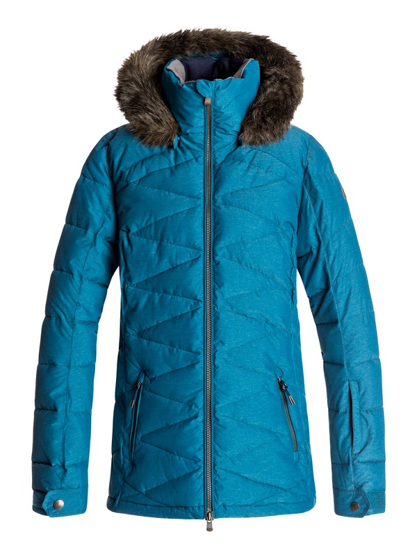 0 Quinn - Snow Jacket Blue ERJTJ03111 Roxy