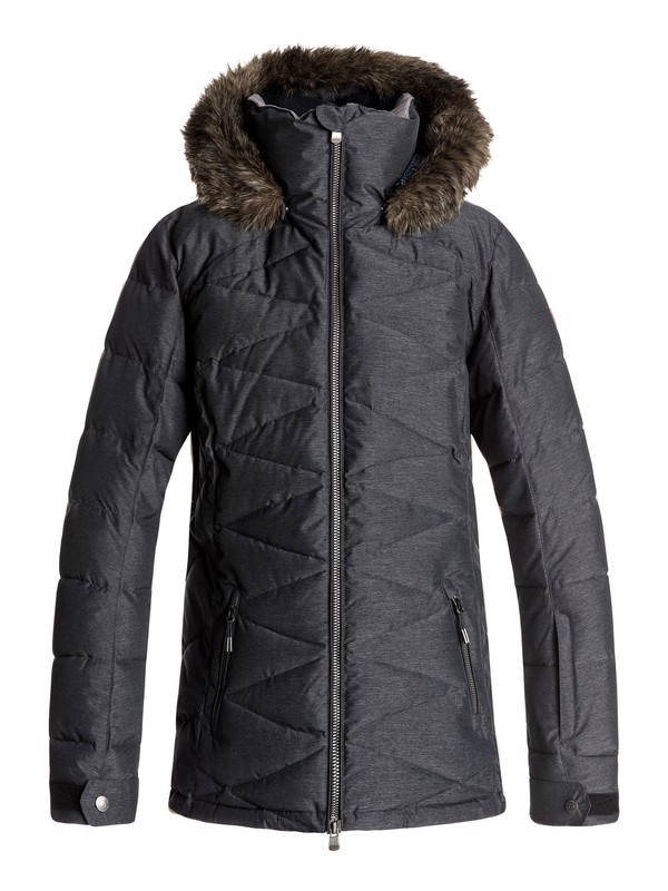 0 Quinn - Snow Jacket Black ERJTJ03111 Roxy
