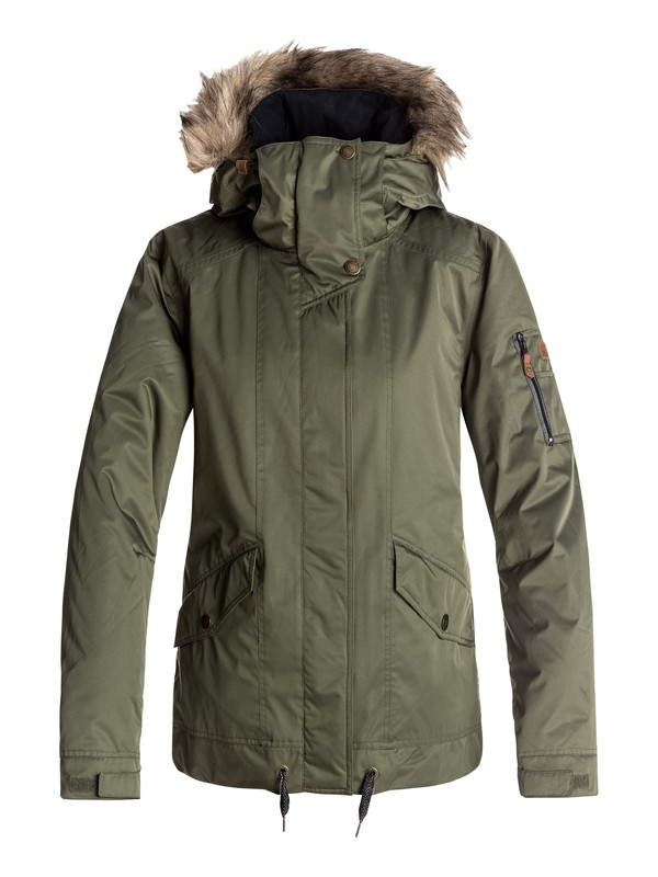 0 Grove - Snow Jacket Green ERJTJ03114 Roxy