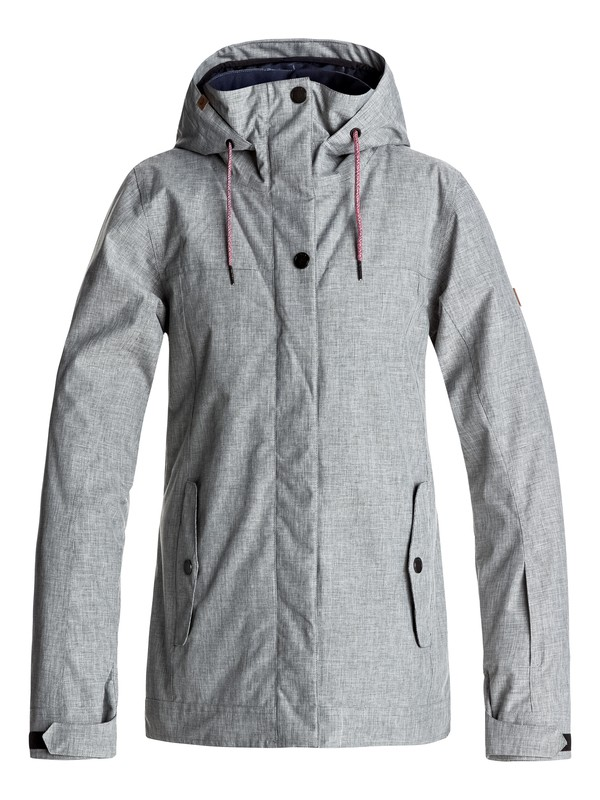 0 Billie - Snow Jacket Grey ERJTJ03121 Roxy