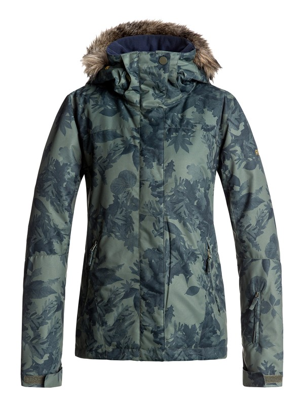 0 Jet Ski - Snow Jacket Green ERJTJ03124 Roxy