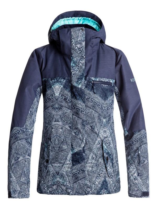 0 ROXY Jetty - Snow Jacket Blue ERJTJ03132 Roxy
