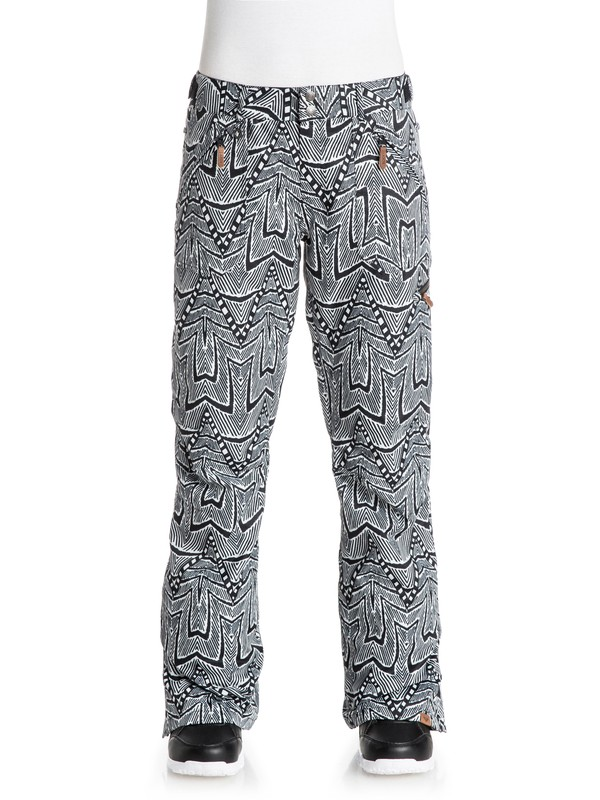 0 Nadia Printed Snow Pants White ERJTP03032 Roxy