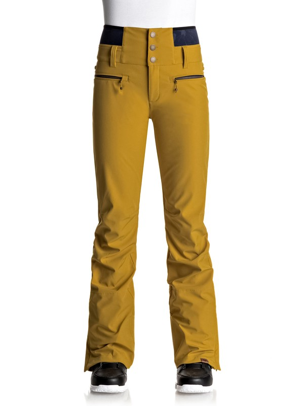 0 Torah Bright Rise Up - Pantalones Para Nieve Amarillo ERJTP03043 Roxy