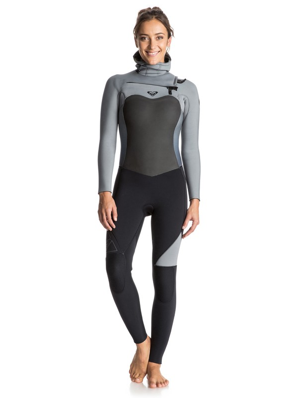 0 Syncro 5/4/3mm Chest Zip Hooded Wetsuit Black ERJW203001 Roxy