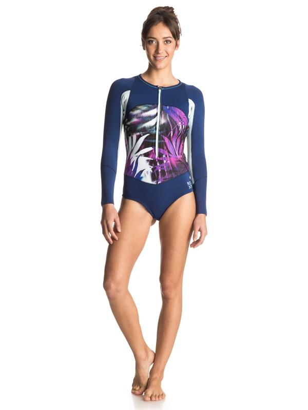 0 Caribbean Sunset Bikini Cut Front Zip Springsuit  ERJW403000 Roxy