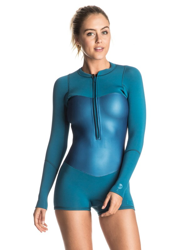 0 Pop Surf 2mm Front Zip Long Sleeve Springsuit Blue ERJW403003 Roxy