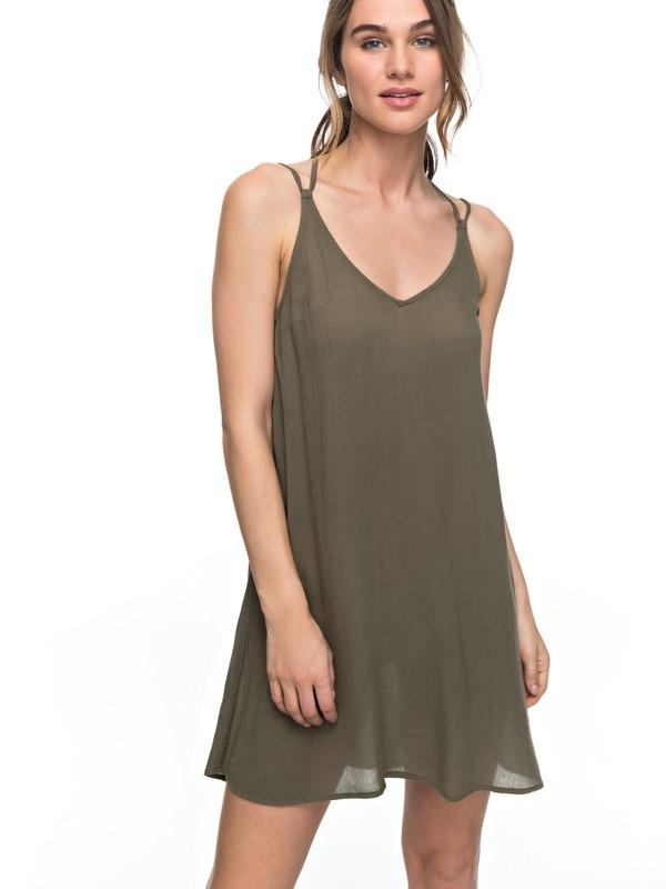 0 Dome Of Amalfi Strappy Dress Green ERJWD03148 Roxy