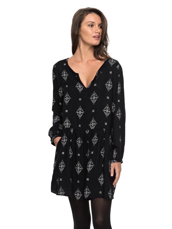 0 Sunkissed Daze - Long Sleeve Dress Black ERJWD03152 Roxy