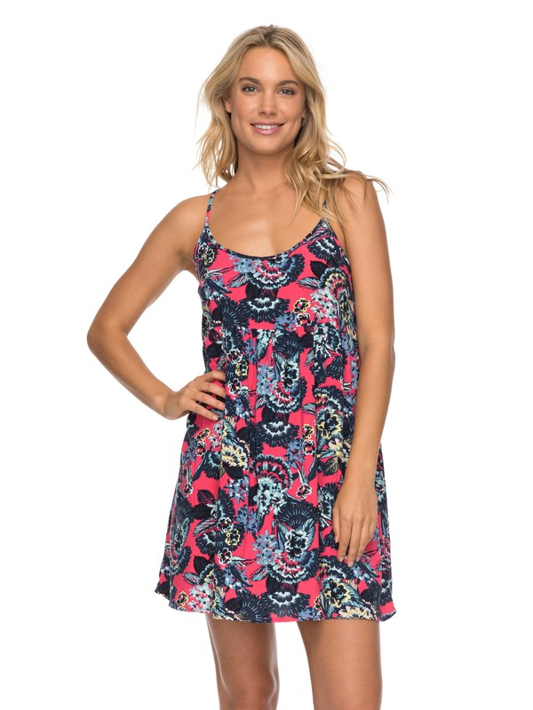 0 Tropical Sundance - Robe à bretelles Rose ERJWD03194 Roxy