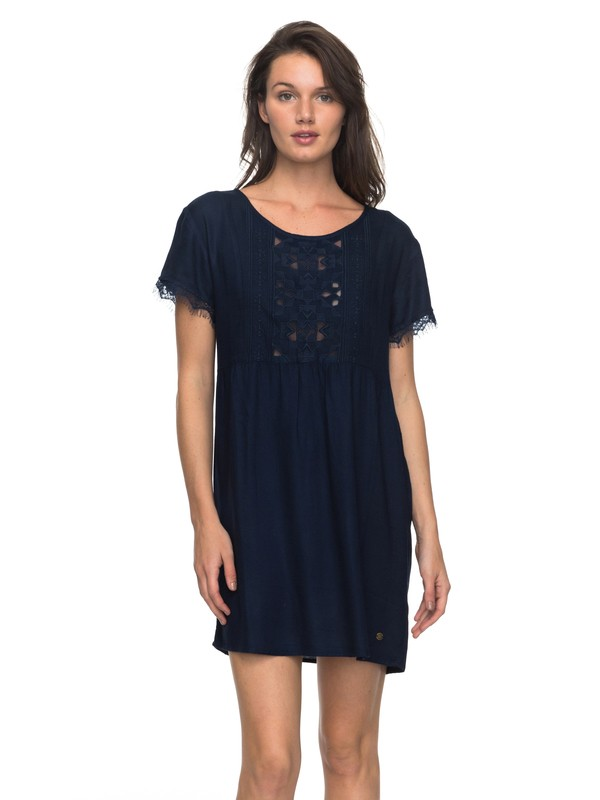 0 Dark To Light - Short Sleeve Dress Blue ERJWD03204 Roxy
