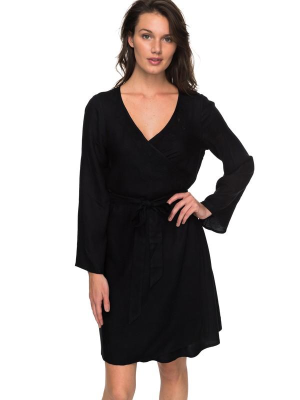0 Small Hours - Robe portefeuille Noir ERJWD03213 Roxy