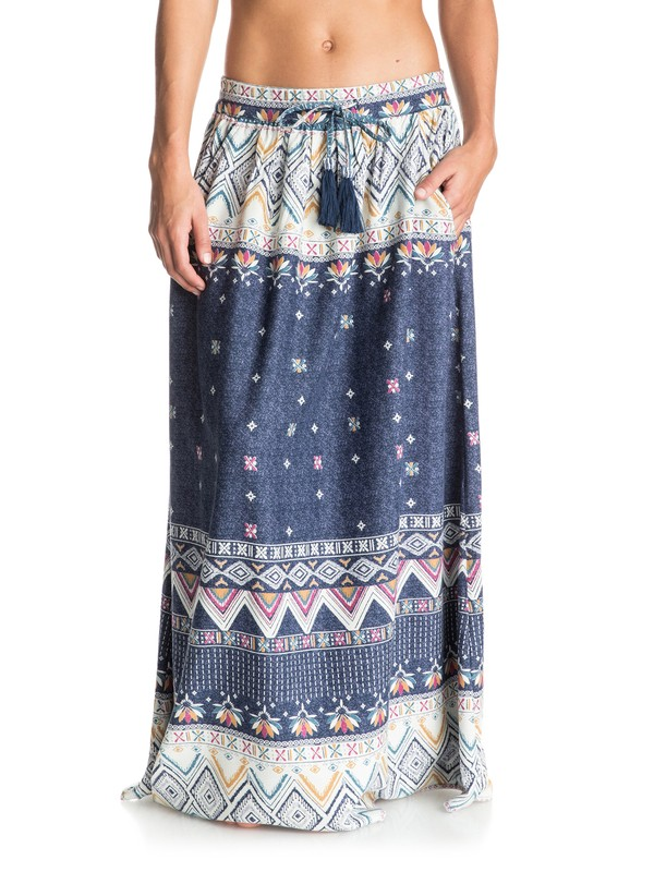 0 Welly Flow Maxi Skirt  ERJWK03019 Roxy