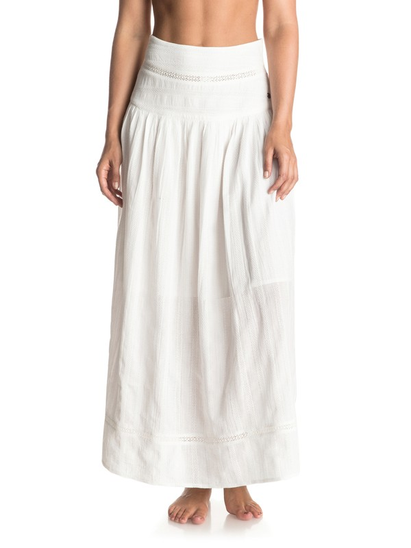 0 Sunday Smile - Maxi Skirt White ERJWK03024 Roxy