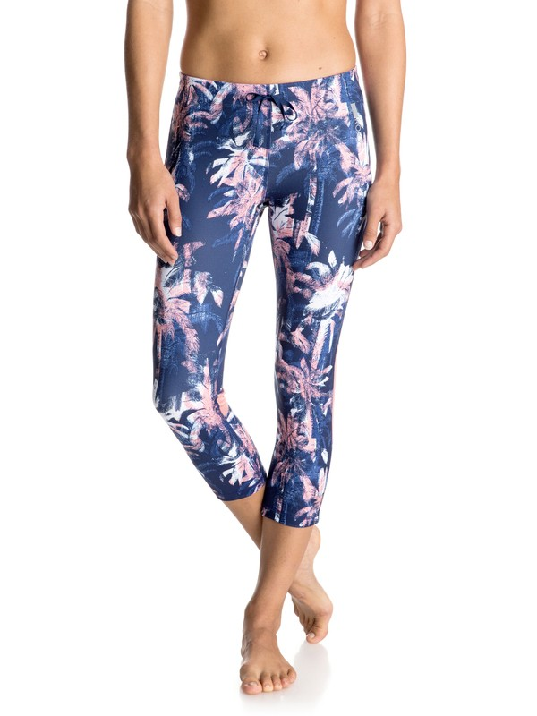 0 Stay On - Capri Pants Blue ERJWP03002 Roxy