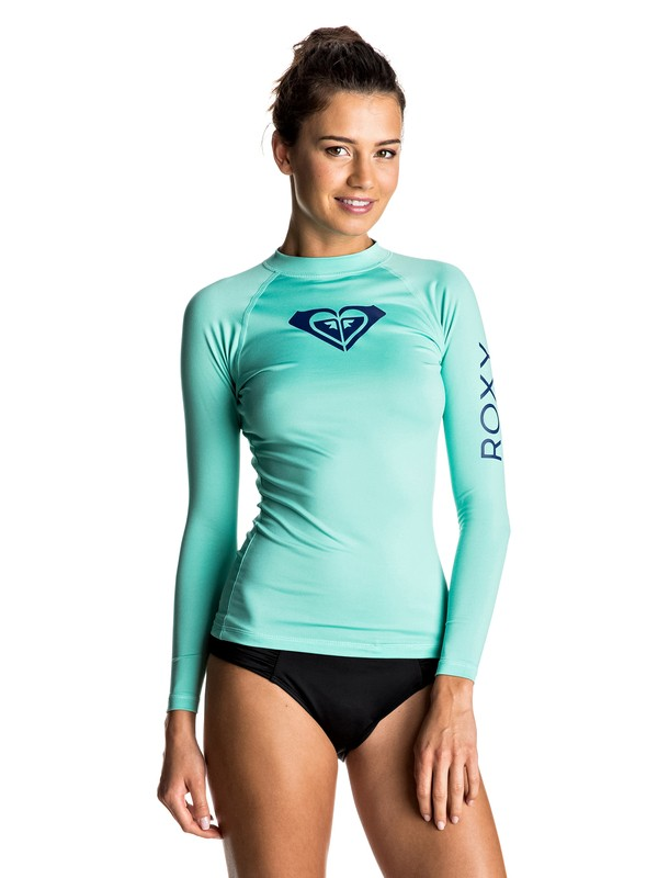 0 Whole Hearted Long Sleeve Rashguard Green ERJWR03044 Roxy