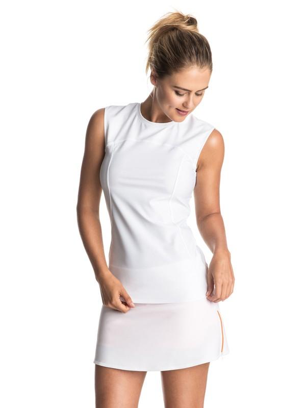 0 ROXY & Courrèges  - Rash Vest met kapmouwen White ERJWR03100 Roxy