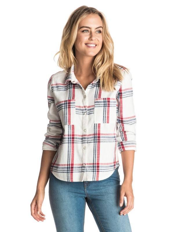 0 Plaid Party Long Sleeve Shirt  ERJWT03105 Roxy