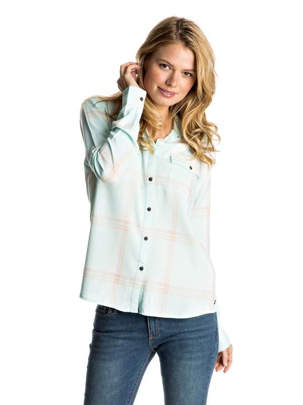 0 Plaid On You Long Sleeve Shirt  ERJWT03108 Roxy