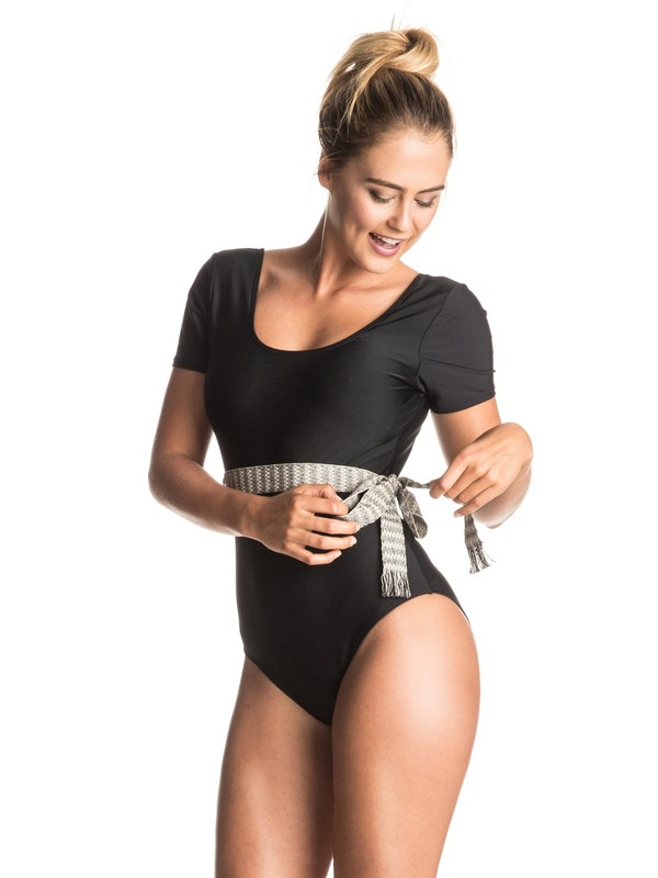 0 Poetic Mexic' Short Sleeve One Piece Swimsuit  ERJX103059 Roxy