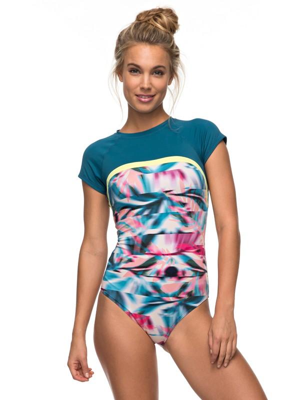 0 Keep It ROXY One Piece Cap Sleeve Swimsuit Orange ERJX103085 Roxy