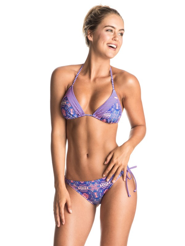 0 Mix Caleo - Triangle Bikini Set Purple ERJX203153 Roxy