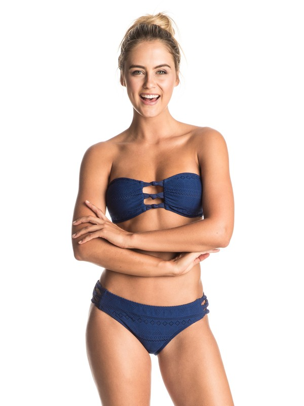 0 Drop Diamond - Bandeau Bikini Set Blue ERJX203160 Roxy