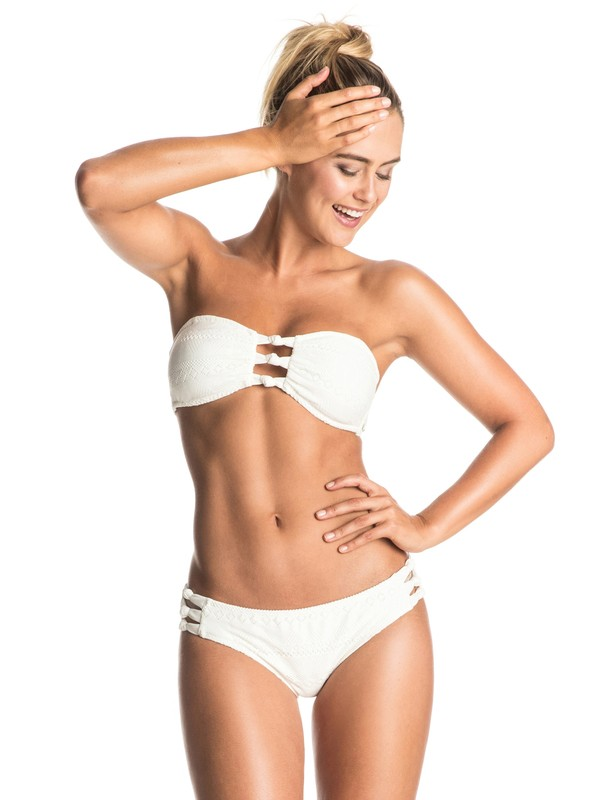 0 Drop Diamond - Bandeau Bikini Set White ERJX203160 Roxy