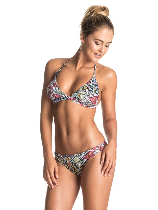 0 Poetic Mexic' - Reversible Fix Tri Bikini Set Blue ERJX203164 Roxy