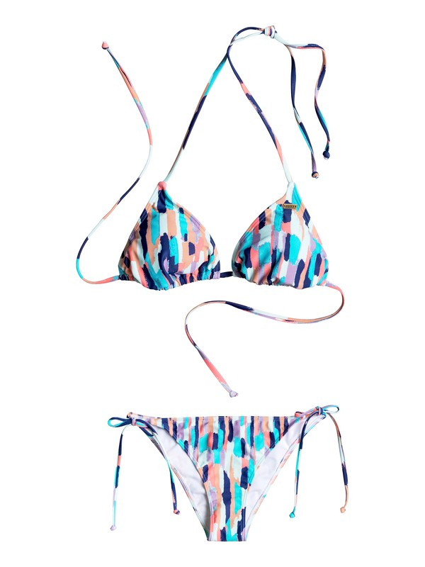 0 Sporty ROXY - Tiki Triangle Bikini Set White ERJX203170 Roxy