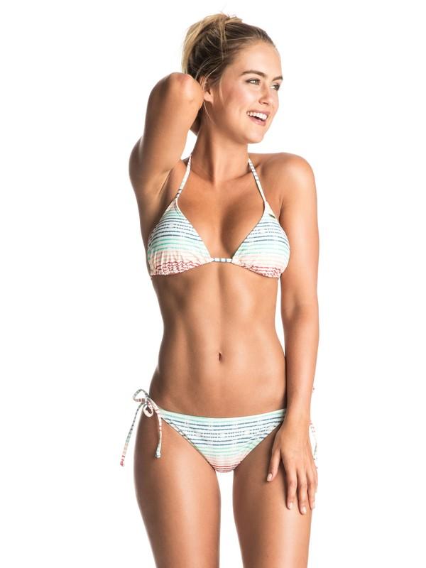 0 Sporty ROXY - Tiki Triangle Bikini Set White ERJX203170 Roxy