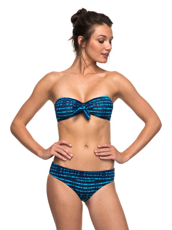 0 Pop Swim - Bandeau Pant Bikini Set Blue ERJX203190 Roxy
