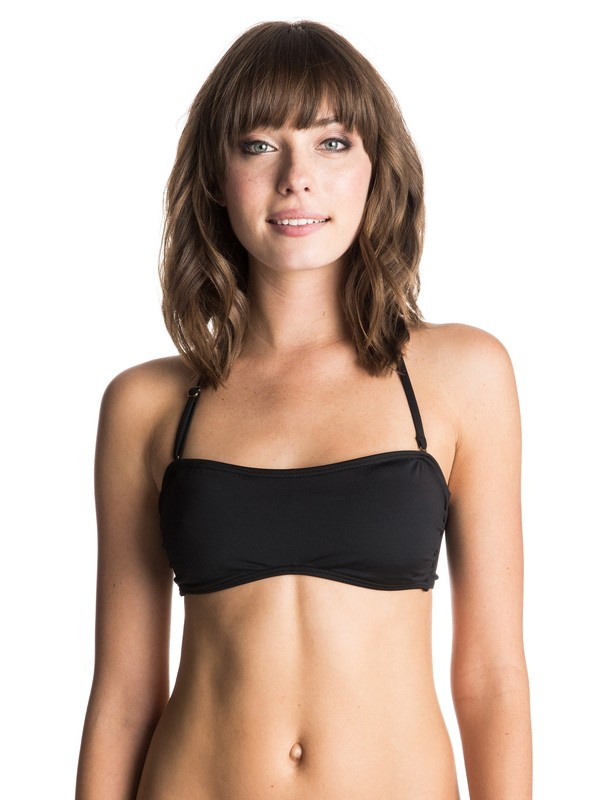 0 Sunset Paradise Bandeau Bikini Top Black ERJX303067 Roxy