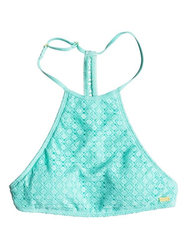 0 Dotted Crochet Crop Bikini Top  ERJX303224 Roxy