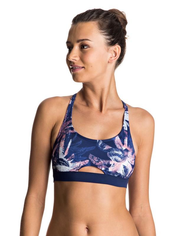0 Keep It ROXY Sporty Bra Bikini Top  ERJX303399 Roxy