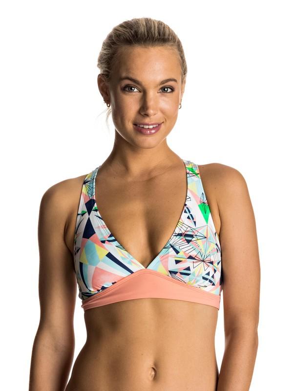 0 Keep It ROXY Sporty 70'S Halter Bikini Top  ERJX303401 Roxy