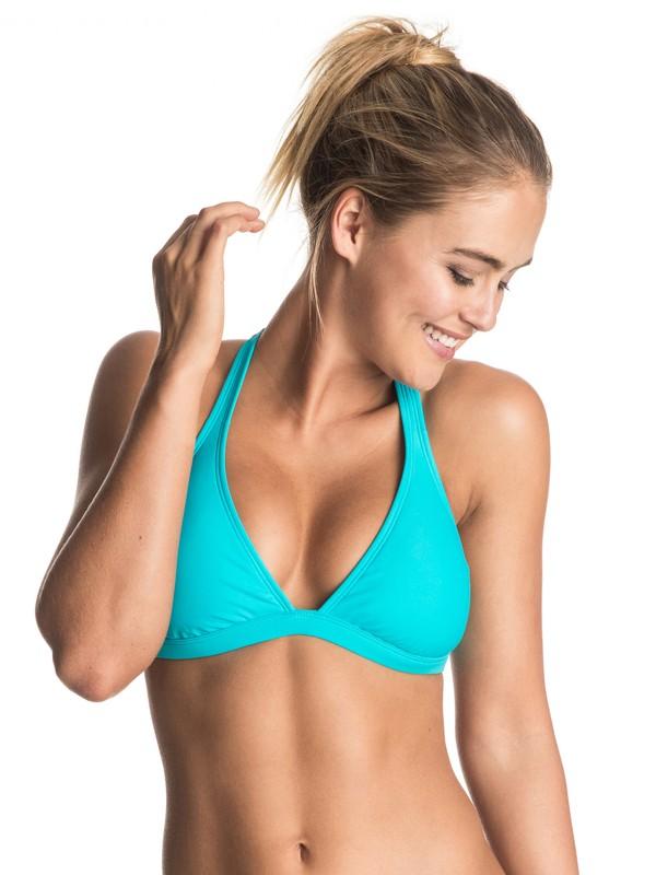 0 Surf Essentials 70'S Bikini Top  ERJX303402 Roxy