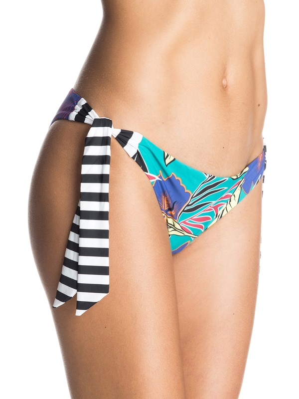 0 Pop Surf Polynesia Knotted Surfer Bikini Bottoms  ERJX403084 Roxy