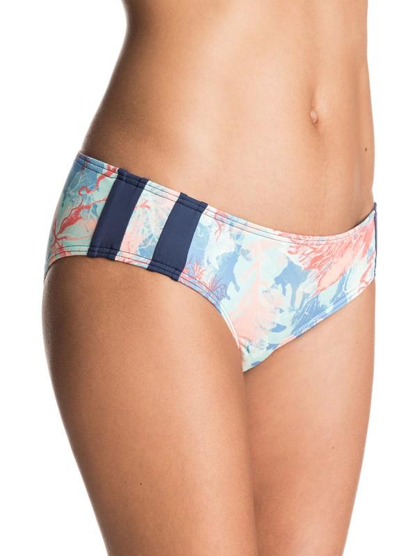 0 Undersea 70's Bikini Bottoms Blue ERJX403200 Roxy