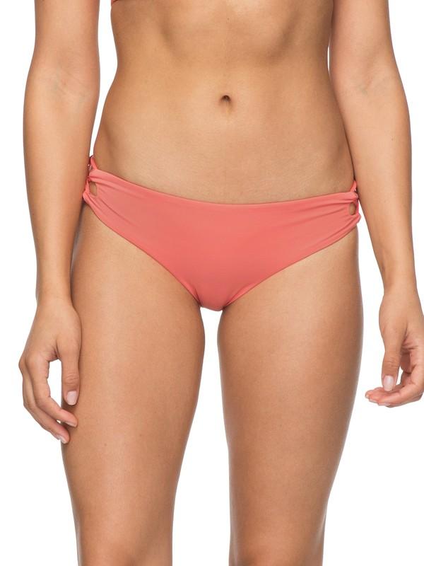 0 Softly Love Reversible 70's Lace-Up Bikini Bottoms Pink ERJX403510 Roxy