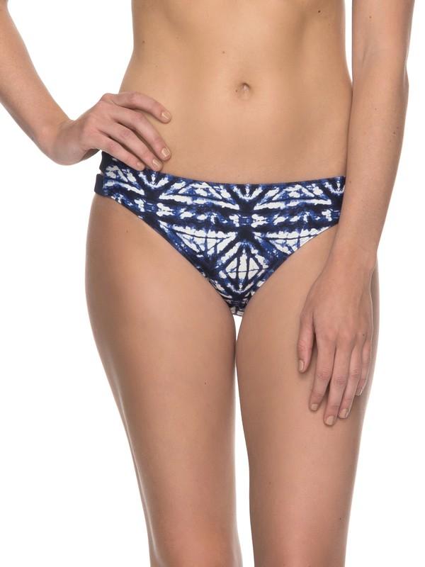 0 ROXY Fitness - 70s Bikini Bottoms Blue ERJX403535 Roxy