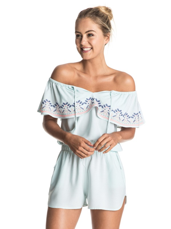 0 Delicate Touch Cold Shoulder Romper Cover Up  ERJX603071 Roxy