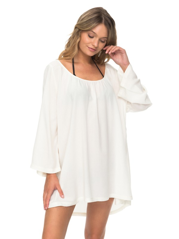 0 Smile And Surf - 3/4 Sleeve Dress White ERJX603103 Roxy