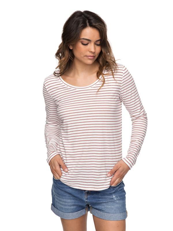 0 Just Simple Stripe - T shirt manches longues Orange ERJZT04014 Roxy