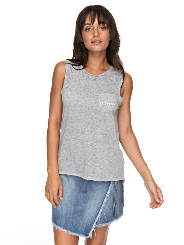 0 Time For Another Day B - Camiseta sin Mangas Gris ERJZT04157 Roxy